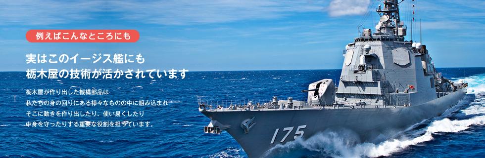 実はこのイージス艦にも栃木屋の技術が活かされています